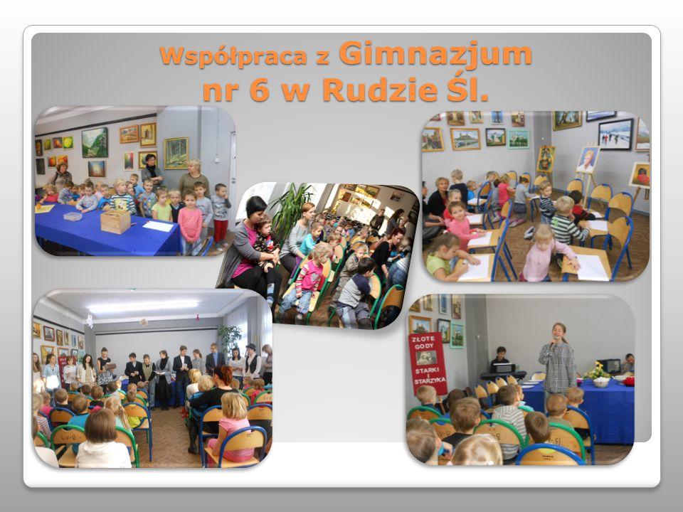 Współpraca z Gimnazjum nr 6 w Rudzie Śl.