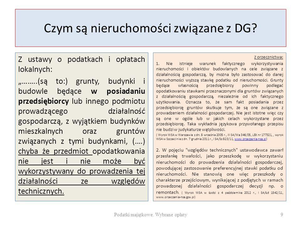 Czym są nieruchomości związane z DG