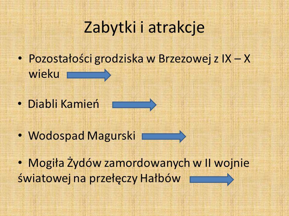 Zabytki i atrakcje Pozostałości grodziska w Brzezowej z IX – X wieku