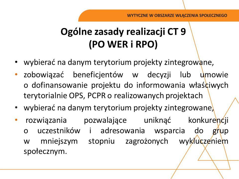 Ogólne zasady realizacji CT 9 (PO WER i RPO)