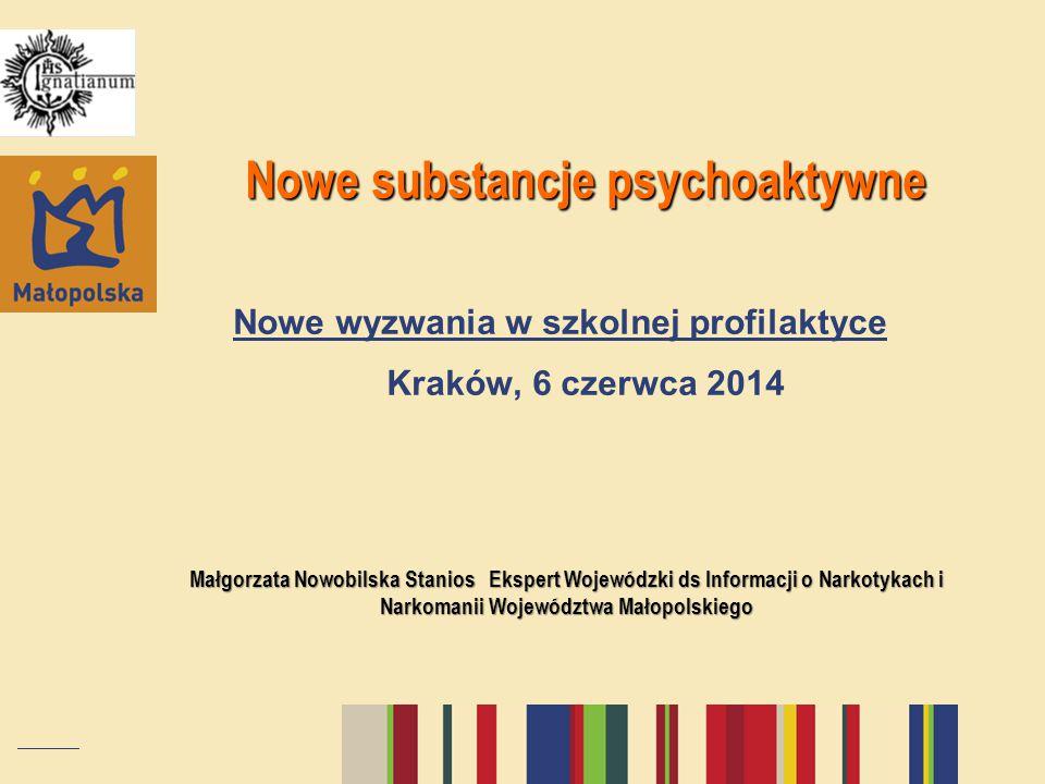 Nowe substancje psychoaktywne Nowe wyzwania w szkolnej profilaktyce Kraków, 6 czerwca 2014