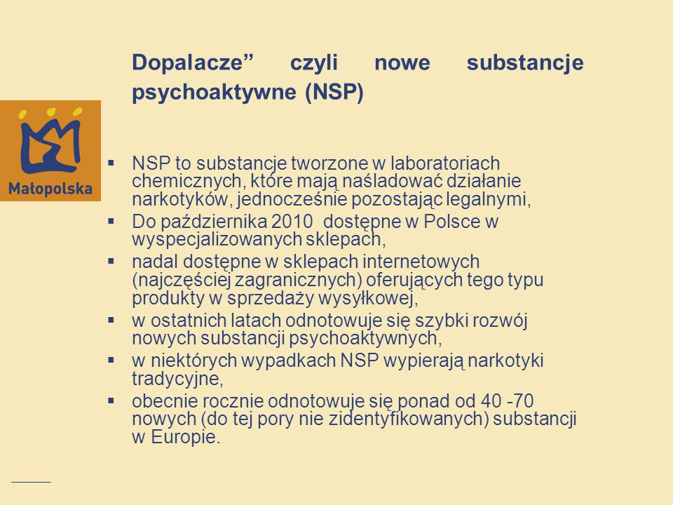 Dopalacze czyli nowe substancje psychoaktywne (NSP)