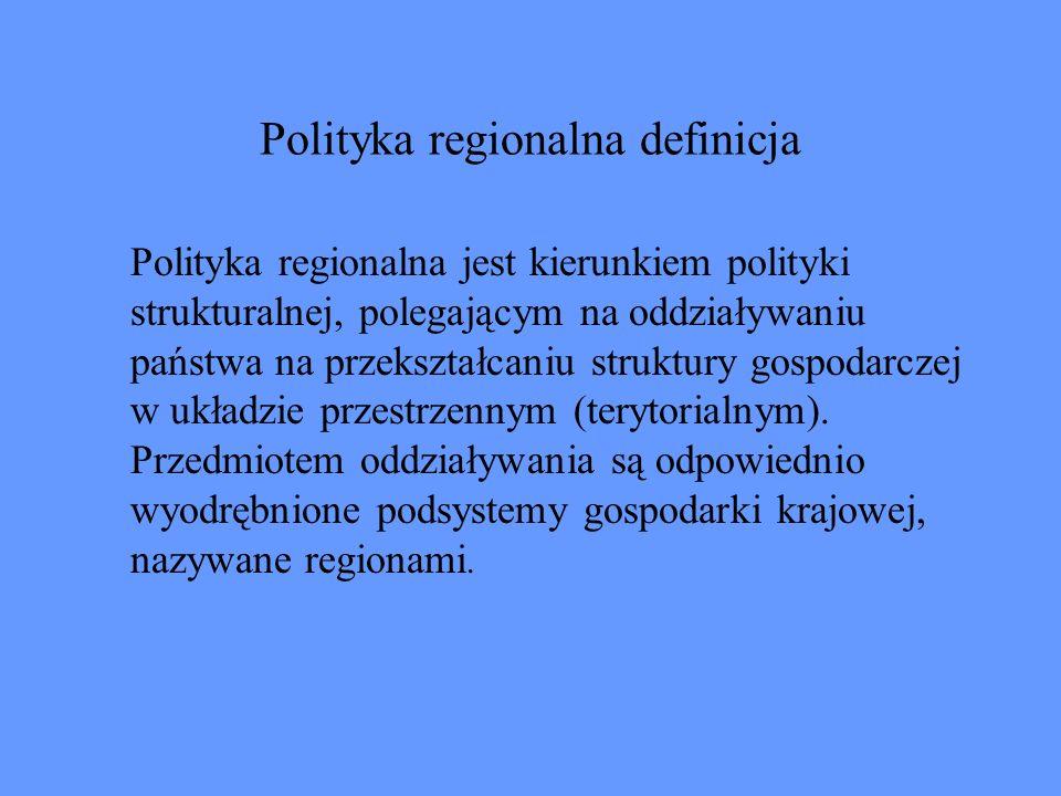 Polityka regionalna definicja
