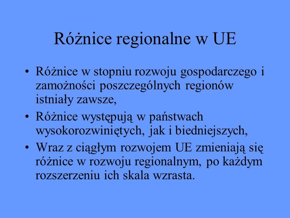 Różnice regionalne w UE