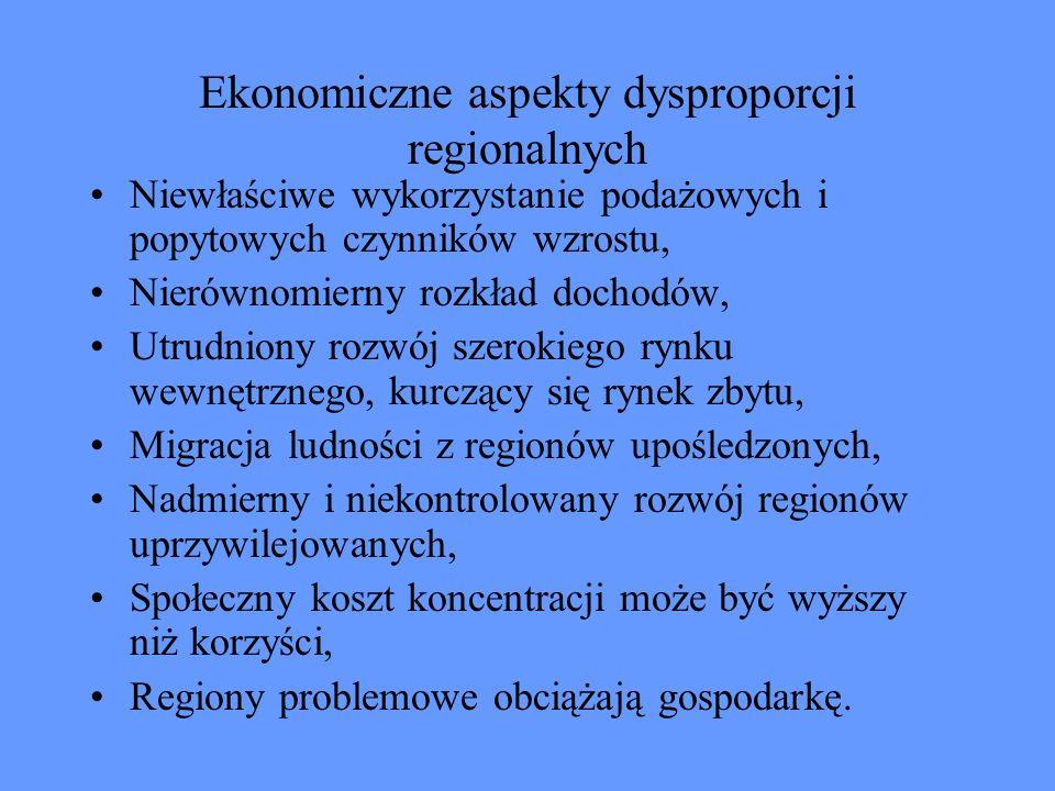 Ekonomiczne aspekty dysproporcji regionalnych