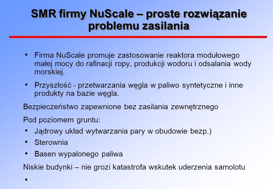 SMR firmy NuScale – proste rozwiązanie problemu zasilania