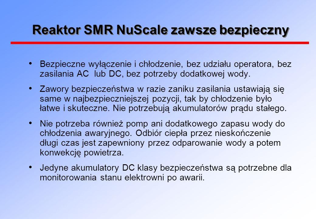 Reaktor SMR NuScale zawsze bezpieczny