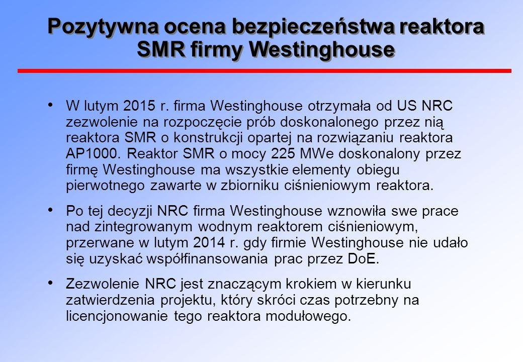 Pozytywna ocena bezpieczeństwa reaktora SMR firmy Westinghouse