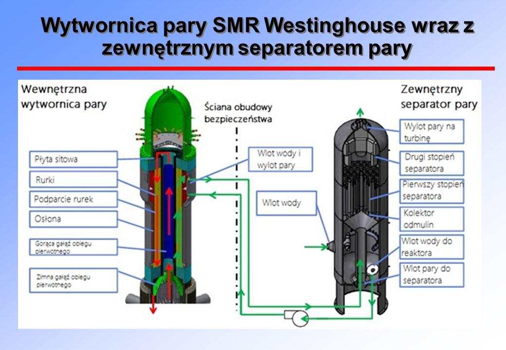 Wytwornica pary SMR Westinghouse wraz z zewnętrznym separatorem pary