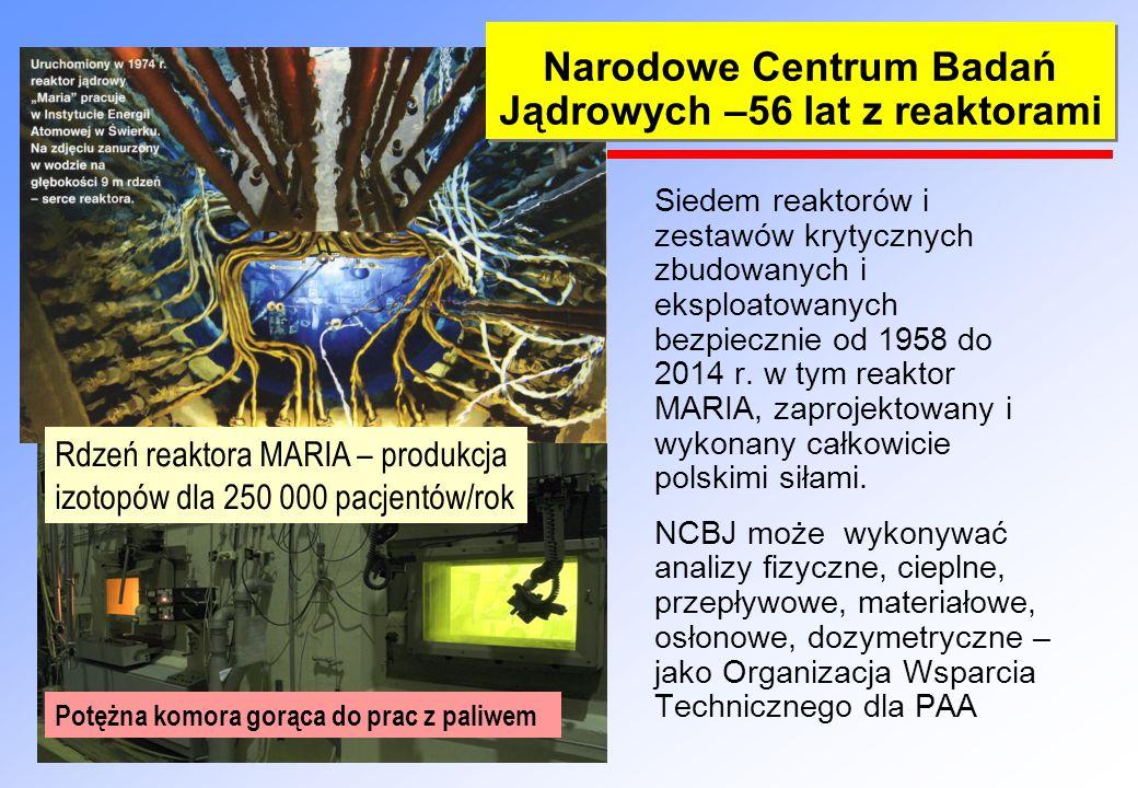 Narodowe Centrum Badań Jądrowych –56 lat z reaktorami