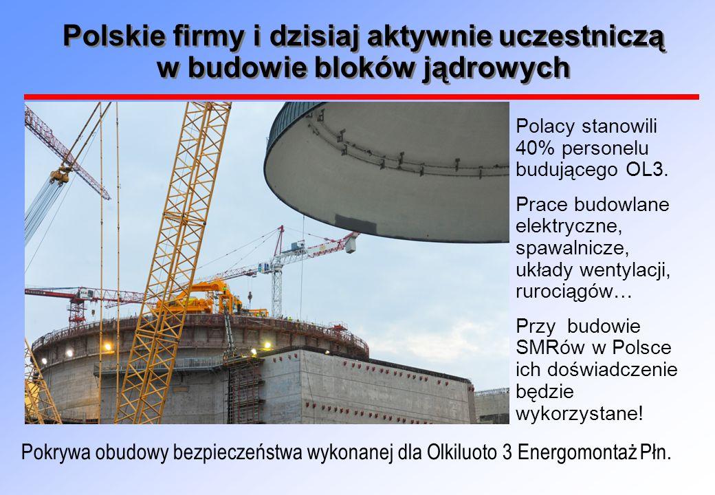 Polskie firmy i dzisiaj aktywnie uczestniczą w budowie bloków jądrowych