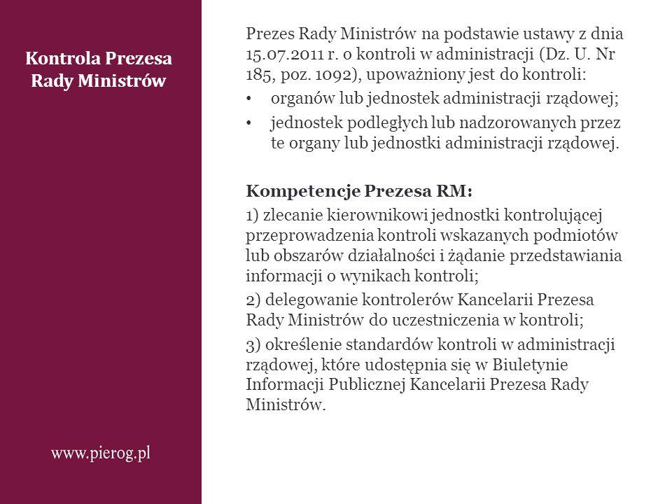Kontrola Prezesa Rady Ministrów