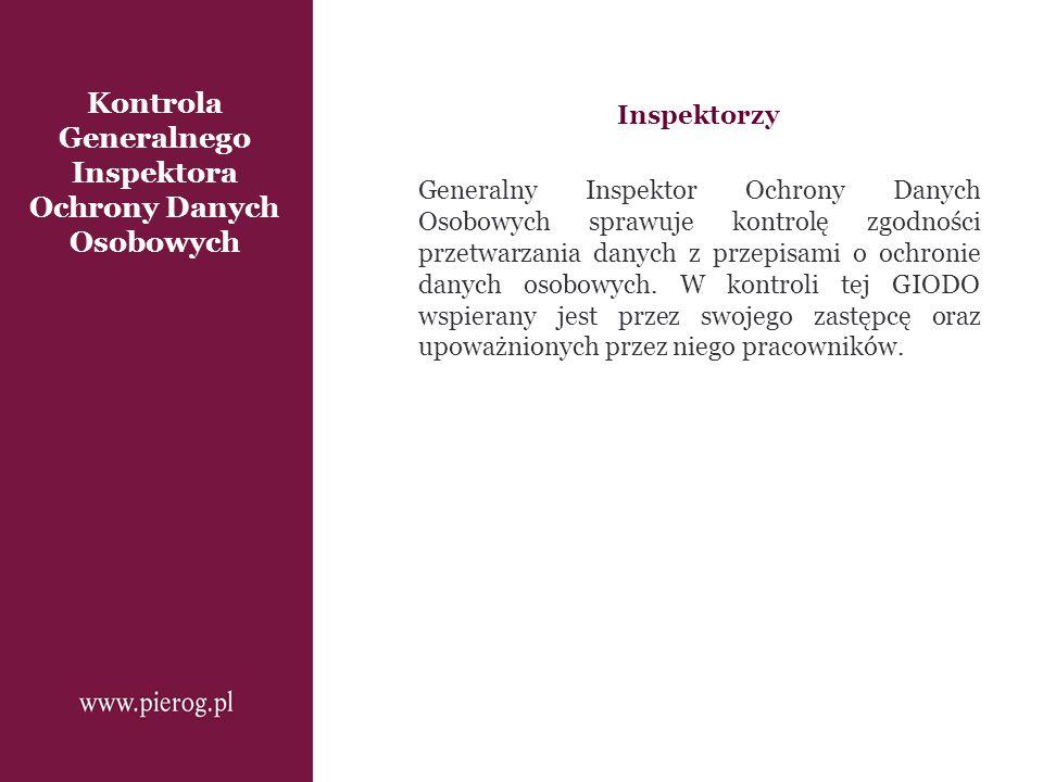 Kontrola Generalnego Inspektora Ochrony Danych Osobowych