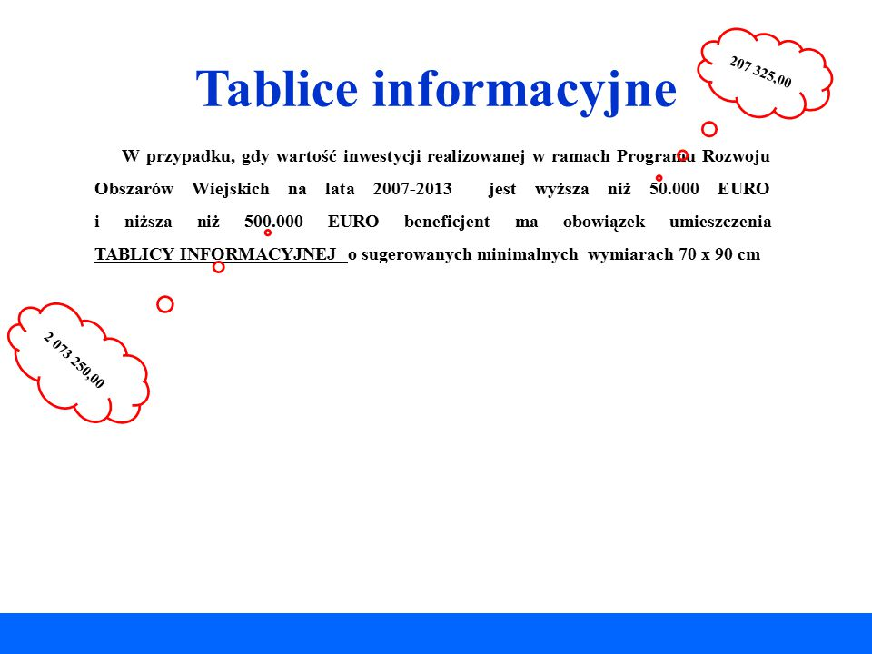 Tablice informacyjne 207 325,00.