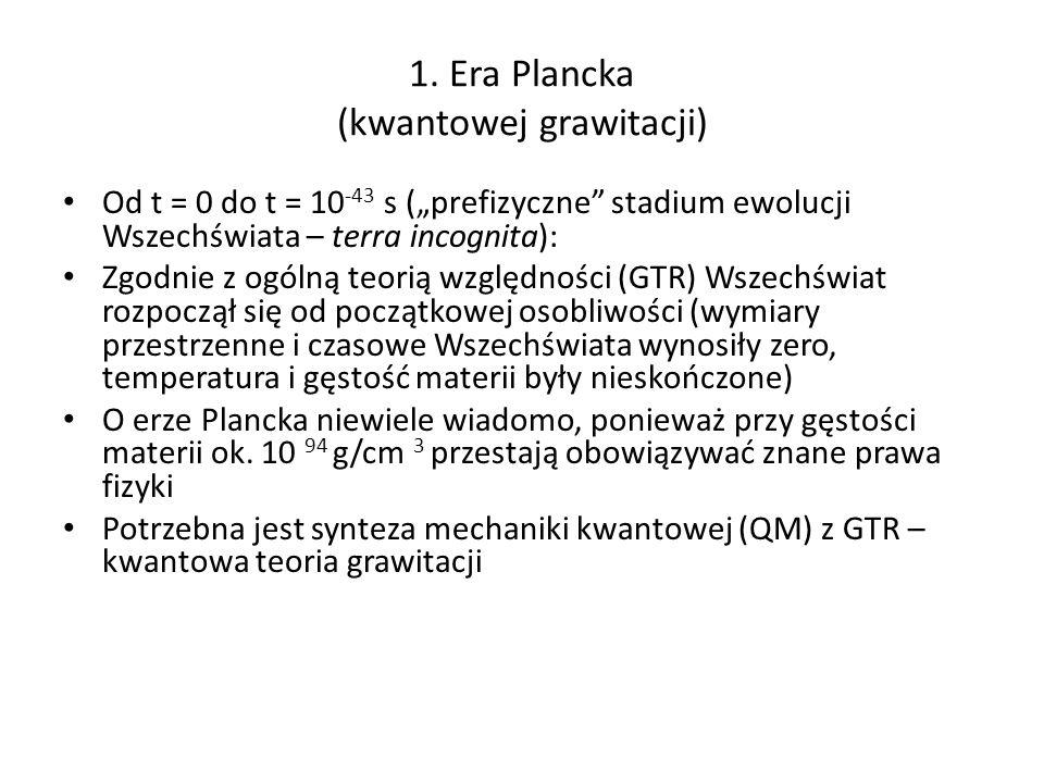 1. Era Plancka (kwantowej grawitacji)