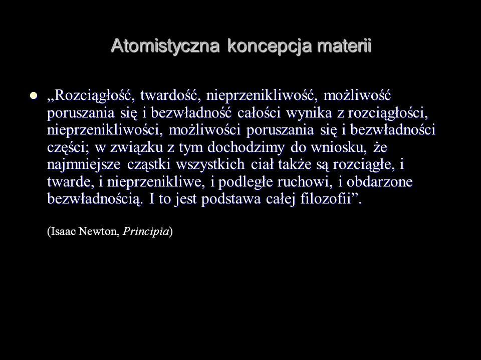 Atomistyczna koncepcja materii
