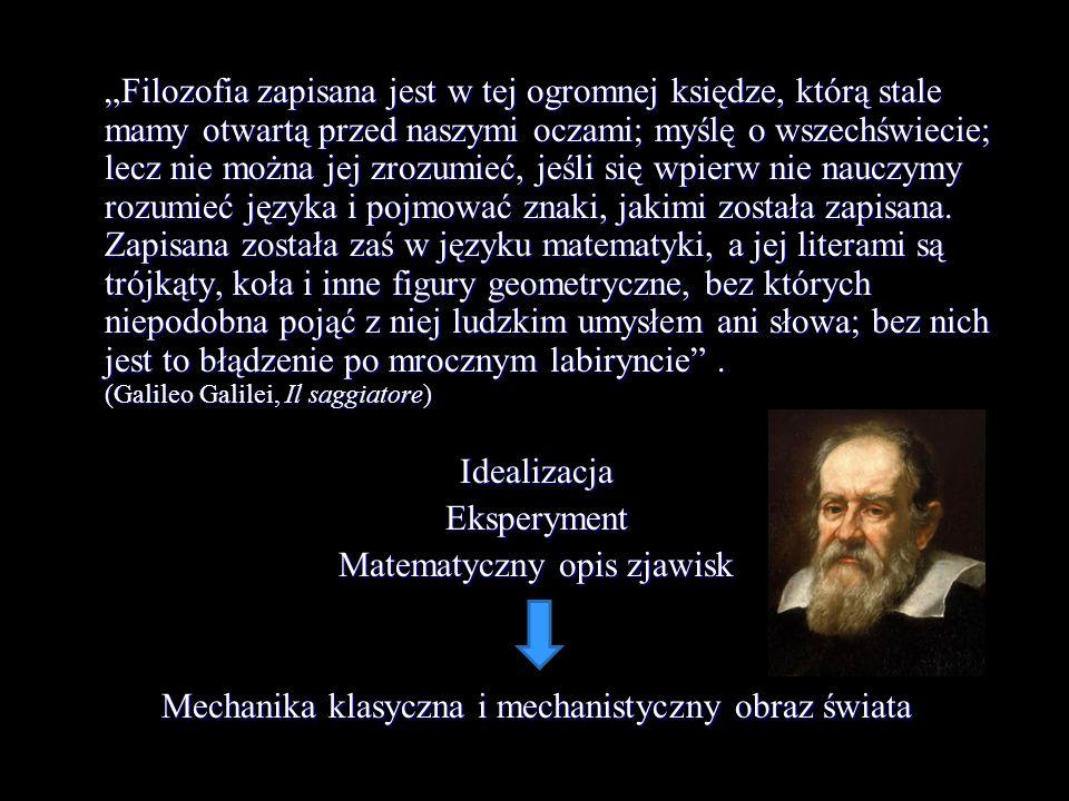 Matematyczny opis zjawisk
