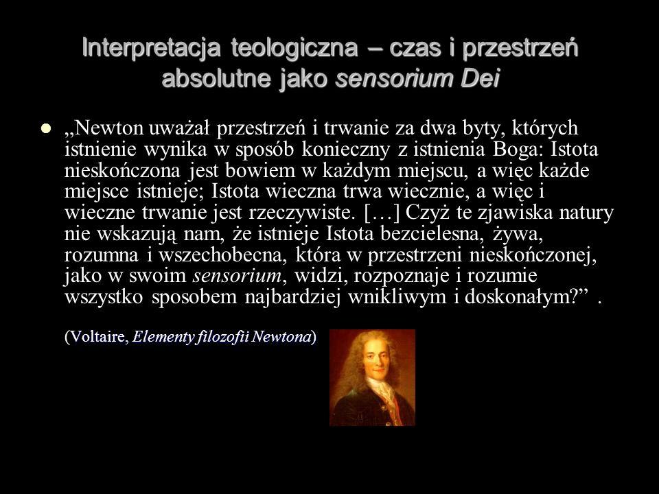Interpretacja teologiczna – czas i przestrzeń absolutne jako sensorium Dei