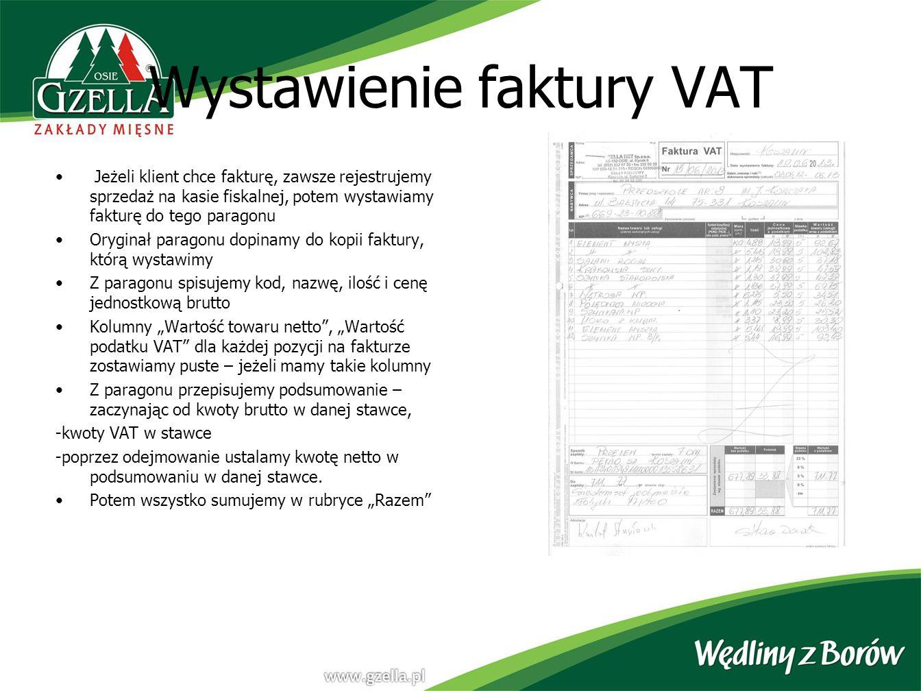 Wystawienie faktury VAT