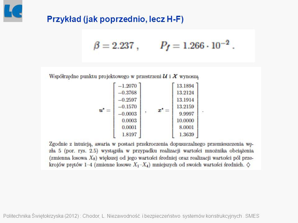 Przykład (jak poprzednio, lecz H-F)