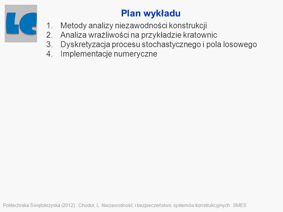 Plan wykładu Metody analizy niezawodności konstrukcji