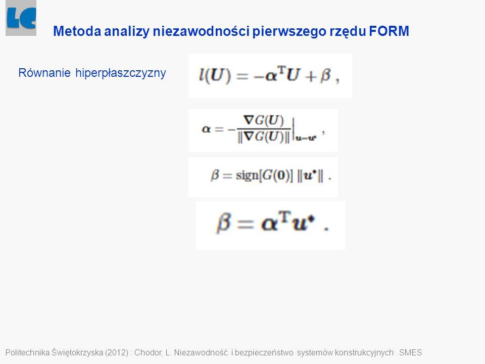 Metoda analizy niezawodności pierwszego rzędu FORM