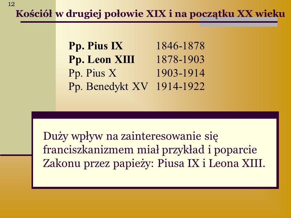 12 Kościół w drugiej połowie XIX i na początku XX wieku.