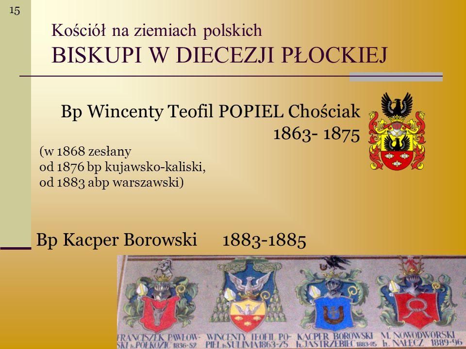 Kościół na ziemiach polskich BISKUPI W DIECEZJI PŁOCKIEJ