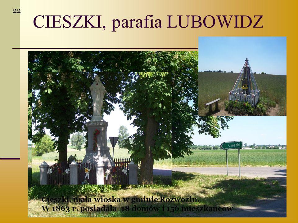 CIESZKI, parafia LUBOWIDZ