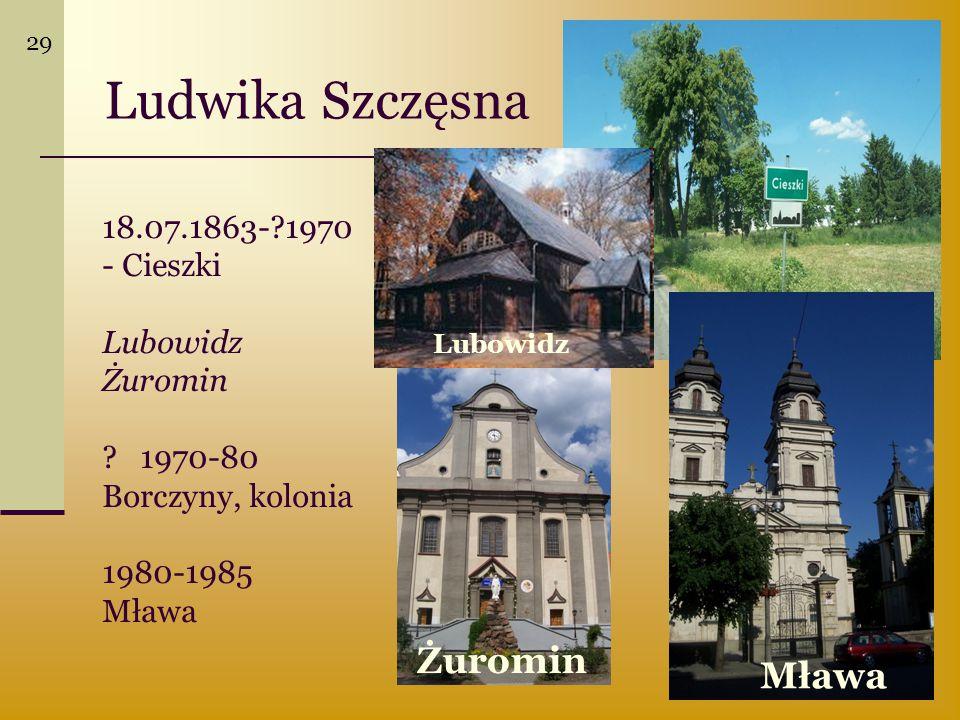 Ludwika Szczęsna Żuromin Mława Lubowidz Żuromin 1970-80