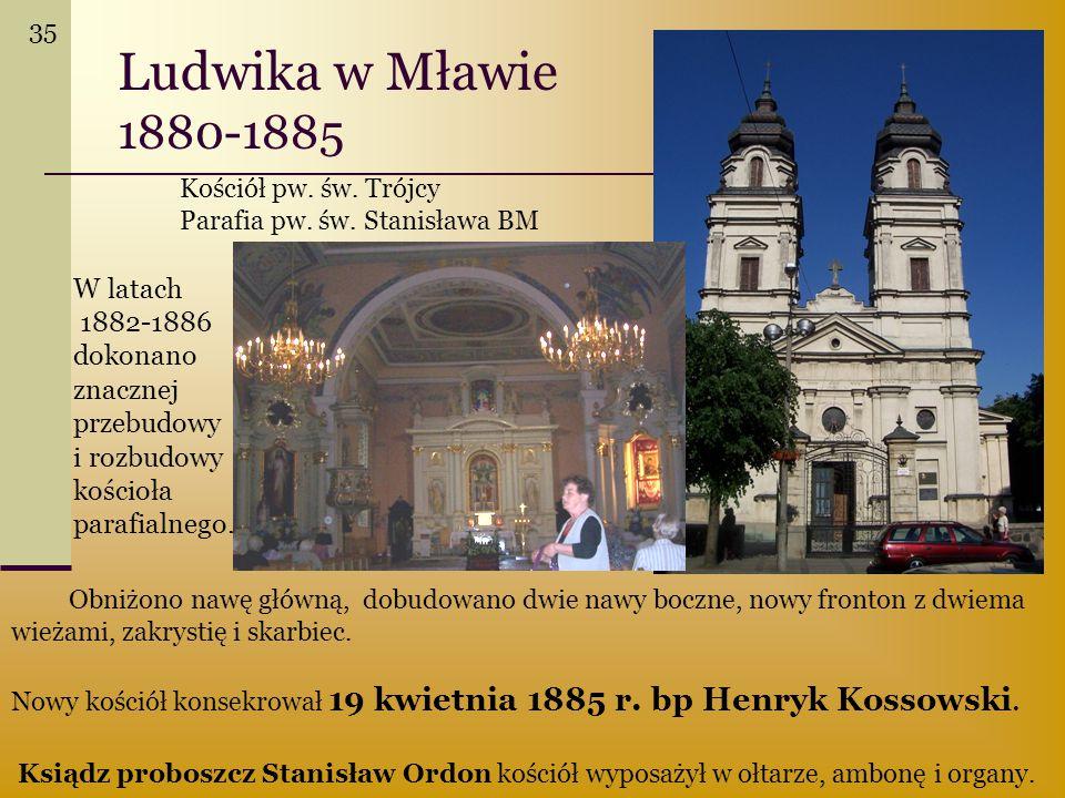 Ludwika w Mławie 1880-1885 W latach
