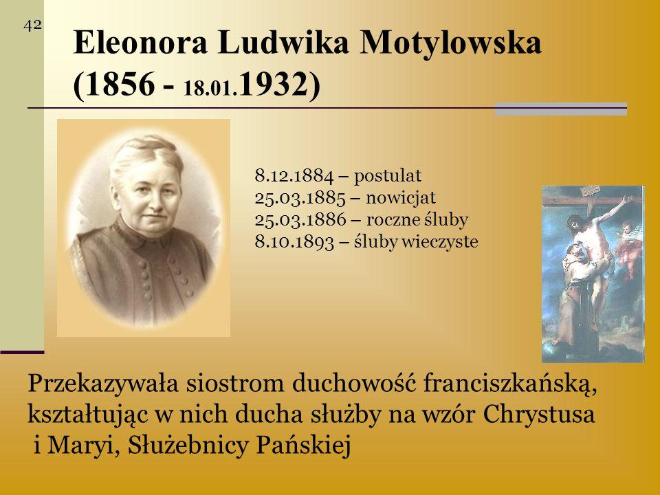 Eleonora Ludwika Motylowska (1856 - 18.01.1932)