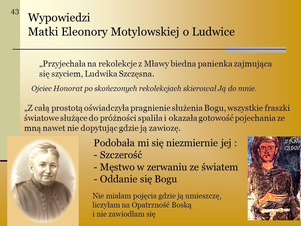 Matki Eleonory Motylowskiej o Ludwice