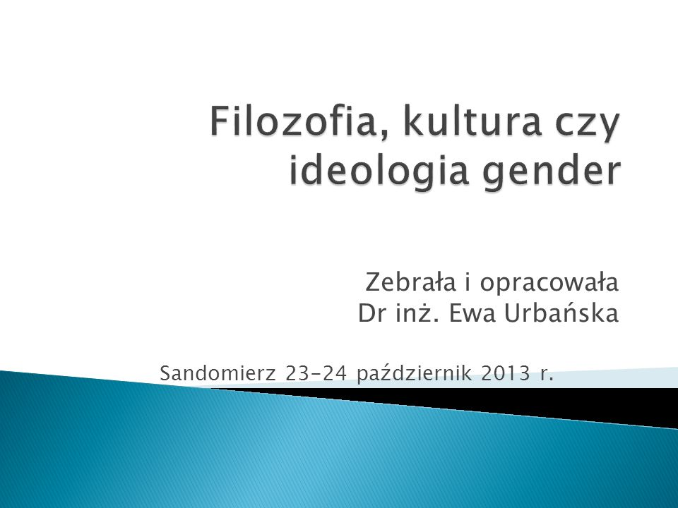 Filozofia, kultura czy ideologia gender