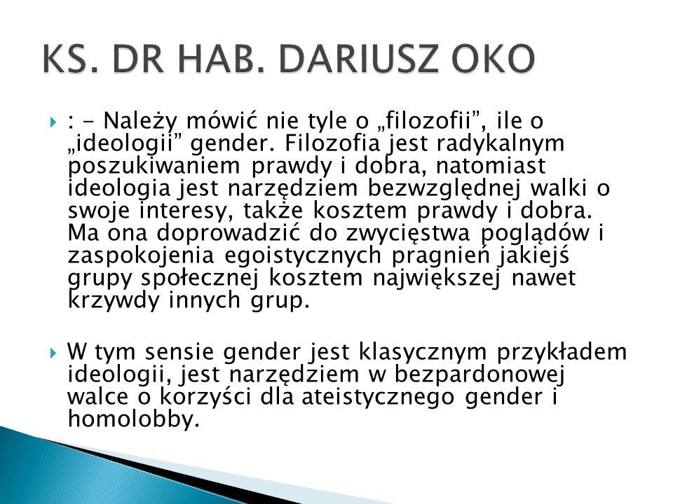 KS. DR HAB. DARIUSZ OKO