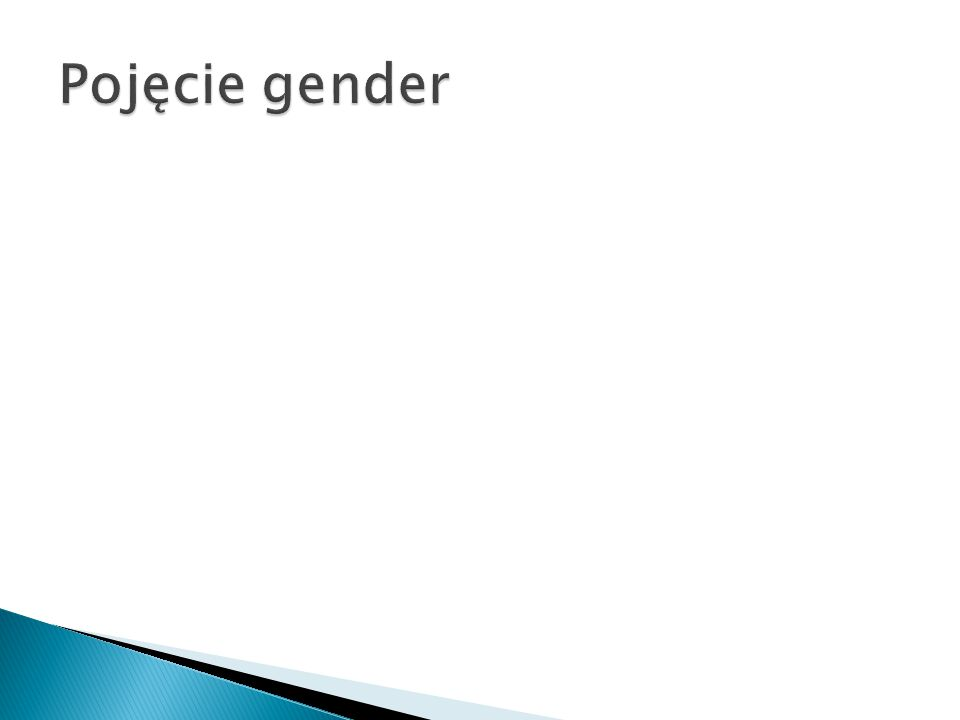Pojęcie gender