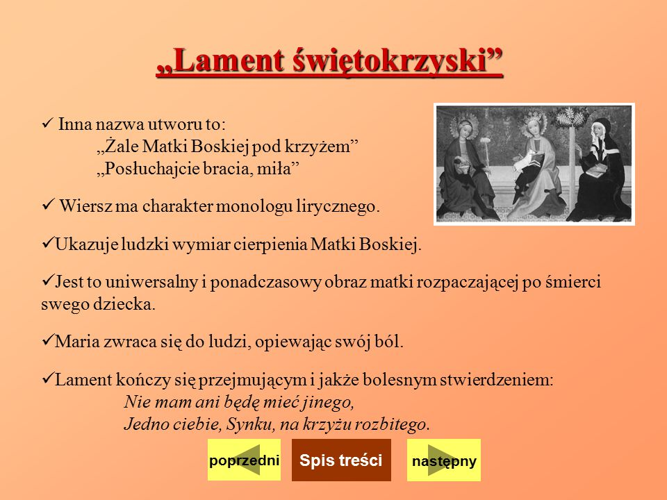 """Lament świętokrzyski"