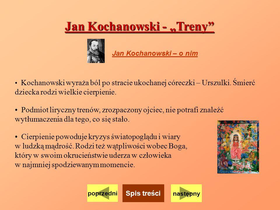 """Jan Kochanowski - """"Treny"""