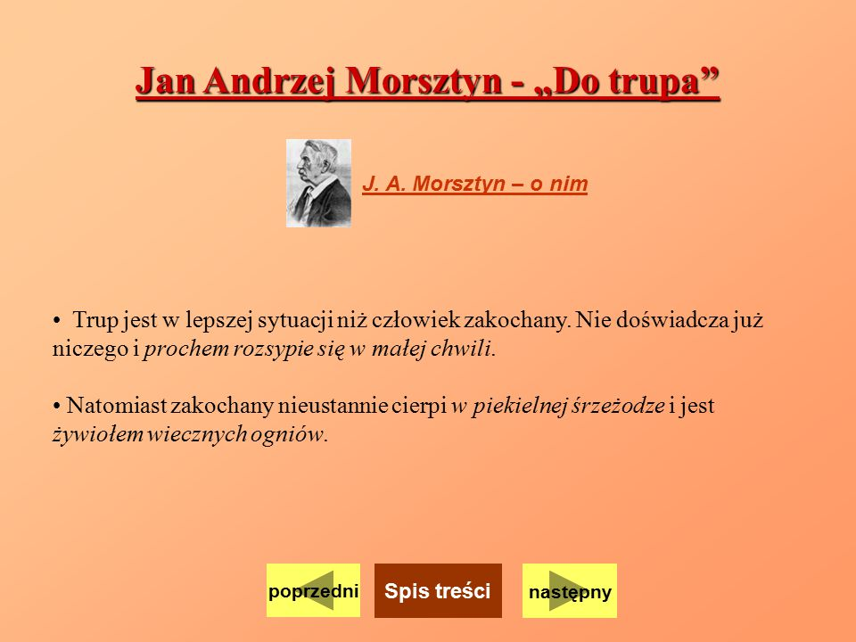 "Jan Andrzej Morsztyn - ""Do trupa"