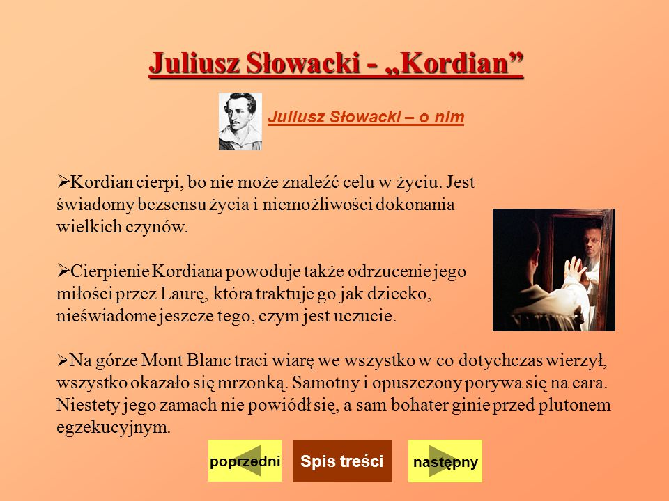 "Juliusz Słowacki - ""Kordian"