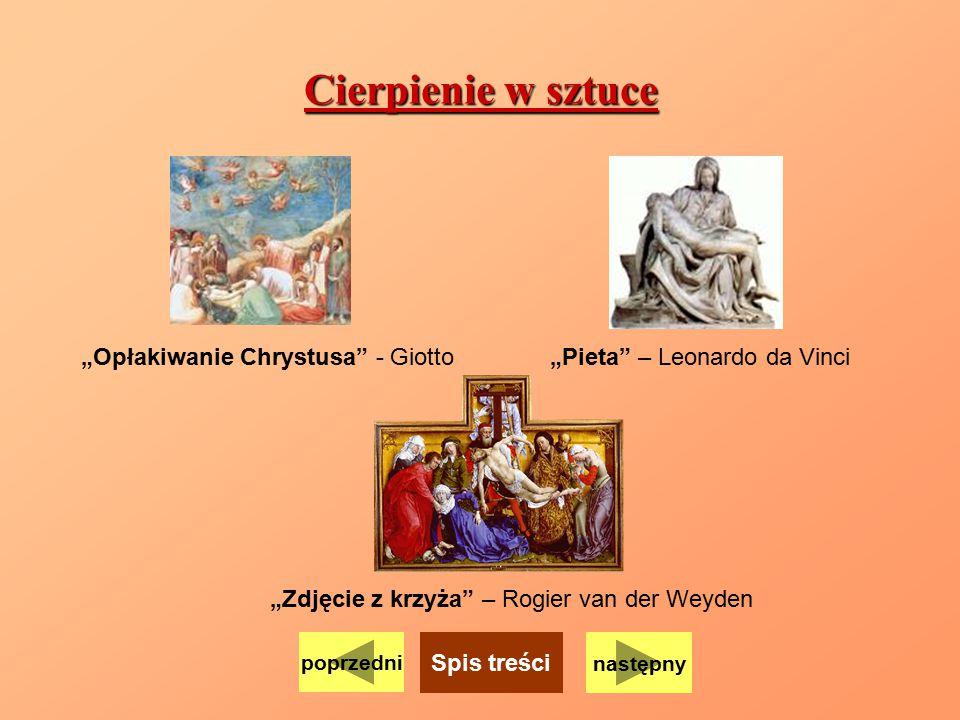 """Cierpienie w sztuce """"Opłakiwanie Chrystusa - Giotto"""