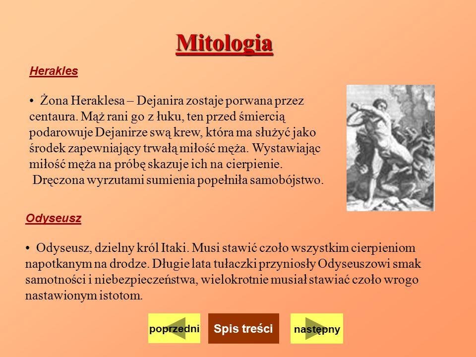 Mitologia Żona Heraklesa – Dejanira zostaje porwana przez
