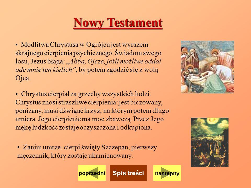 Nowy Testament Chrystus cierpiał za grzechy wszystkich ludzi.
