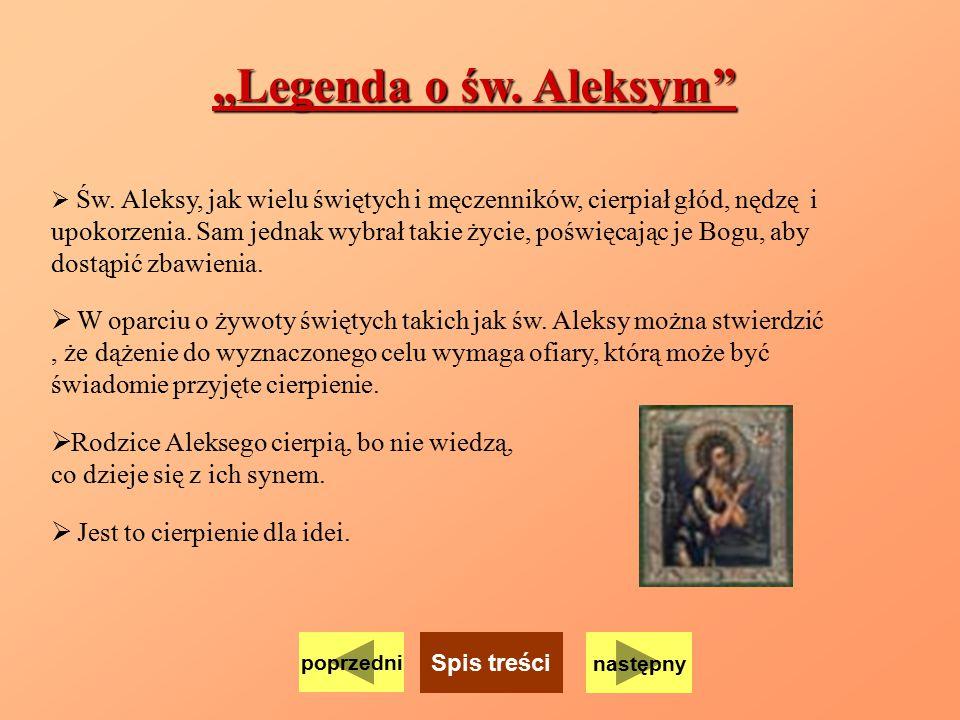 """""""Legenda o św. Aleksym"""