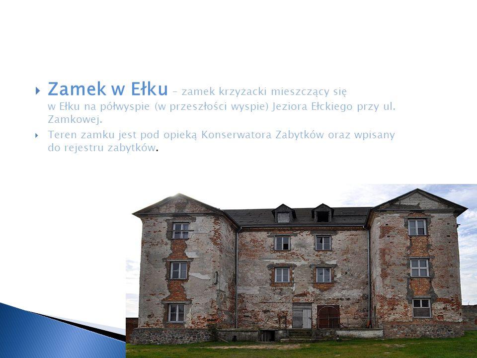 Zamek w Ełku – zamek krzyżacki mieszczący się w Ełku na półwyspie (w przeszłości wyspie) Jeziora Ełckiego przy ul. Zamkowej.