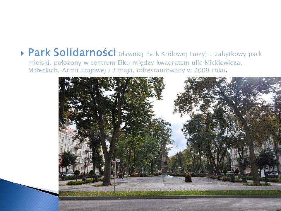 Park Solidarności (dawniej Park Królowej Luizy) – zabytkowy park miejski, położony w centrum Ełku między kwadratem ulic Mickiewicza, Małeckich, Armii Krajowej i 3 maja, odrestaurowany w 2009 roku.