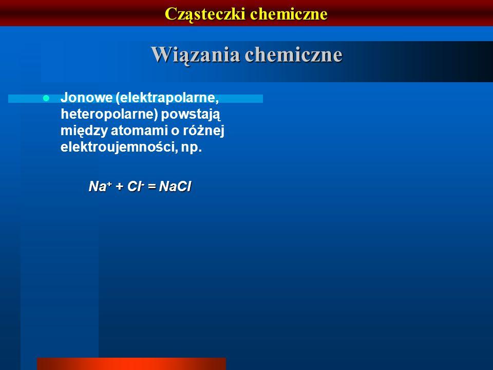 Wiązania chemiczne Cząsteczki chemiczne