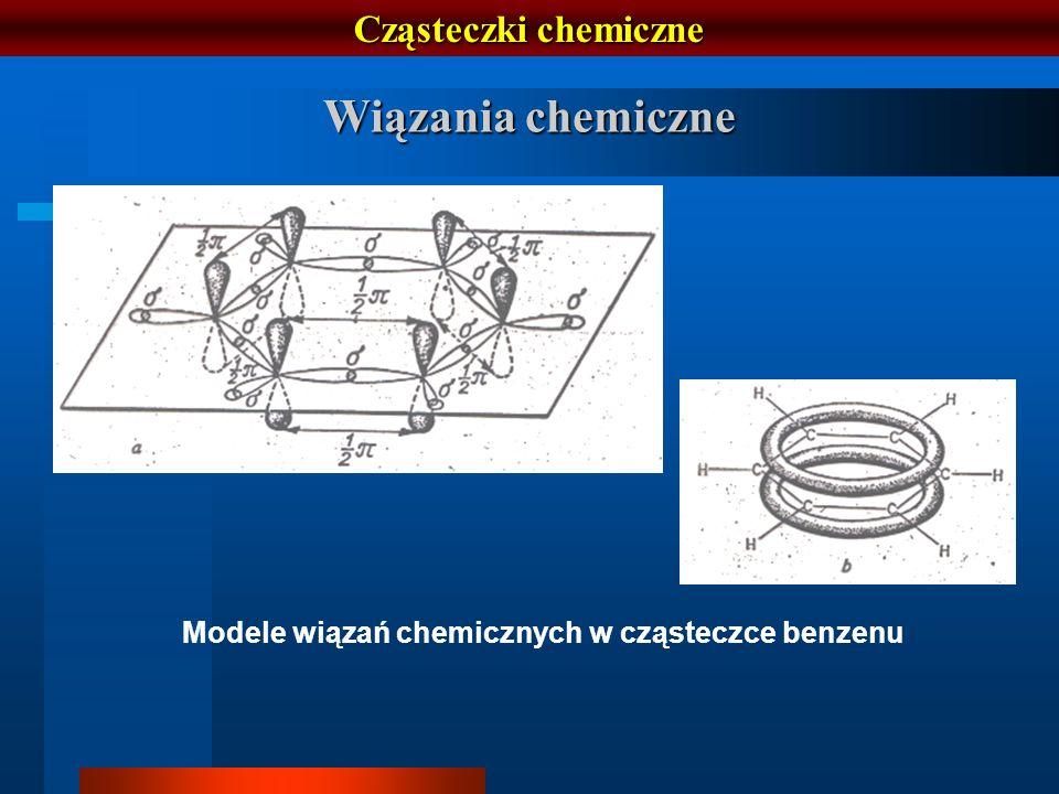 Modele wiązań chemicznych w cząsteczce benzenu