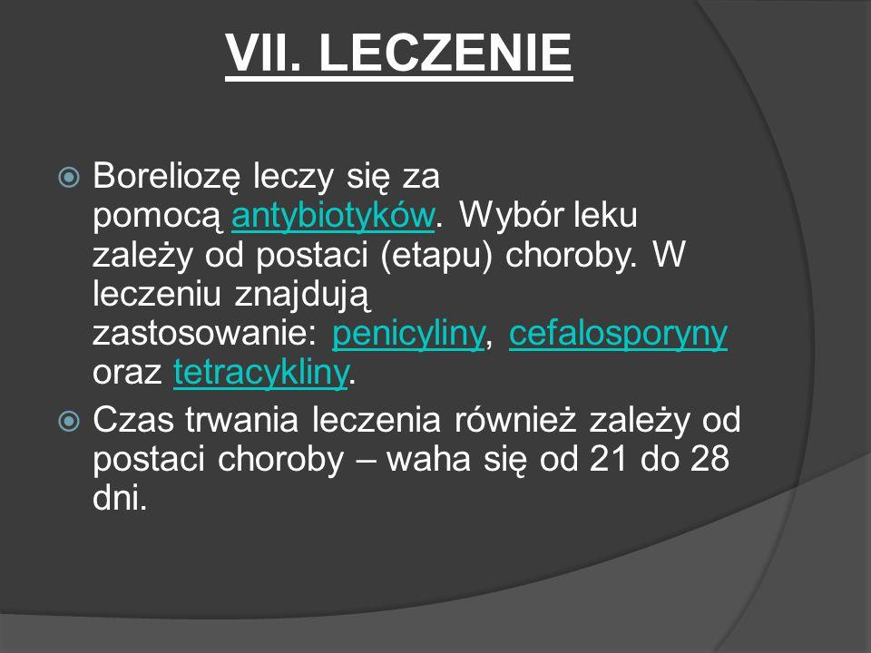 VII. LECZENIE