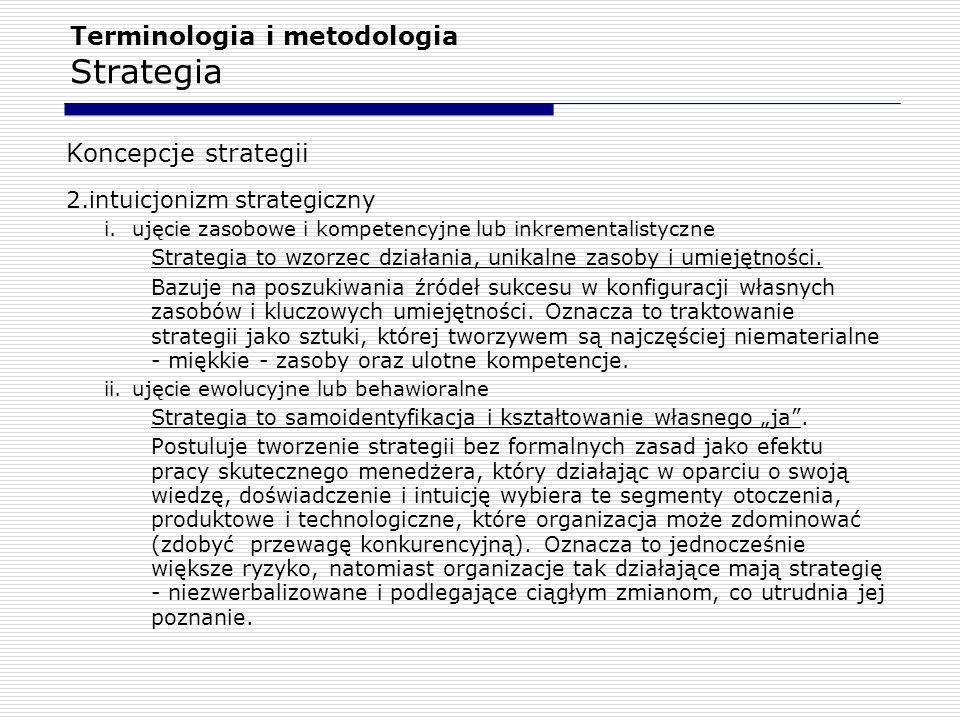 Terminologia i metodologia Strategia